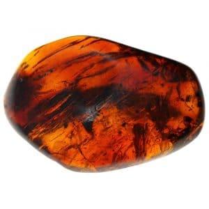 Ambre Mexique forme irrégulière polie 45.4x31.5x13.4mm 8.50gr orange rouge_AMB_007_001