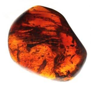 Ambre Mexique forme irrégulière polie 45.4x31.5x13.4mm 8.50gr orange rouge_AMB_007_003