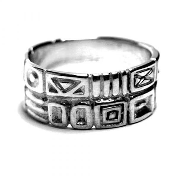 Anneau alliance argent symboles