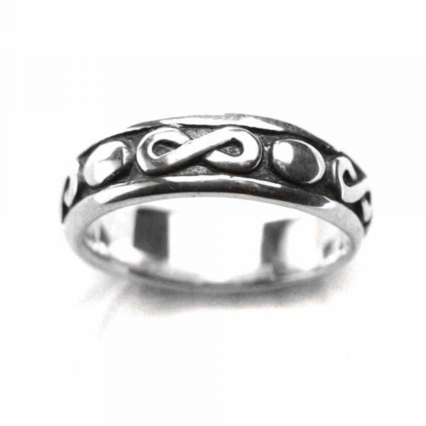 Anneau alliance symbole infini amour éternel argent