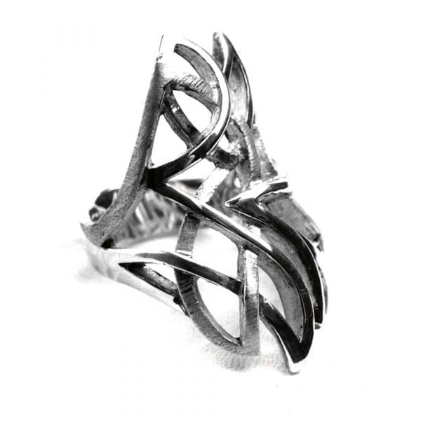 Bague grande style contemporain entrelacs pointus
