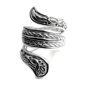Bague serpent enroulé entrelacs celtes argent