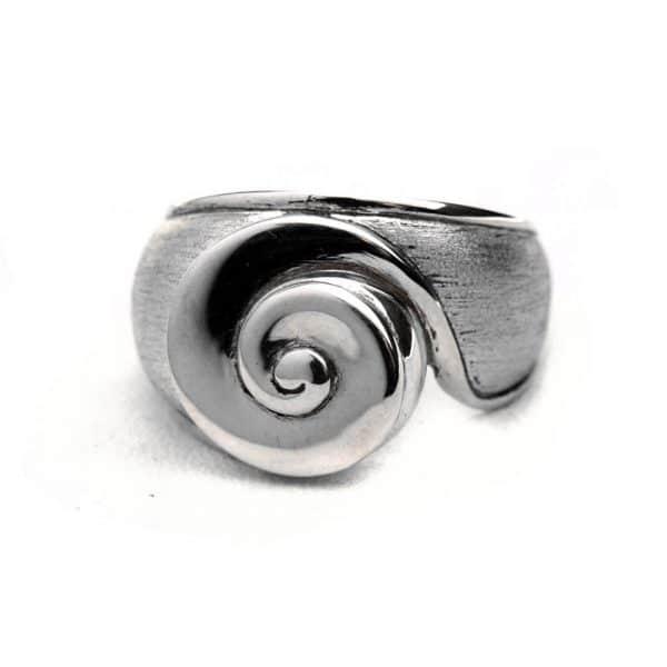 Bague spirale oeil de Sainte Lucie argent