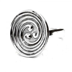 Bague triple spirale celte argent
