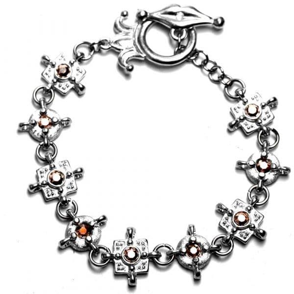 Bracelet fin style médiéeval étain strass