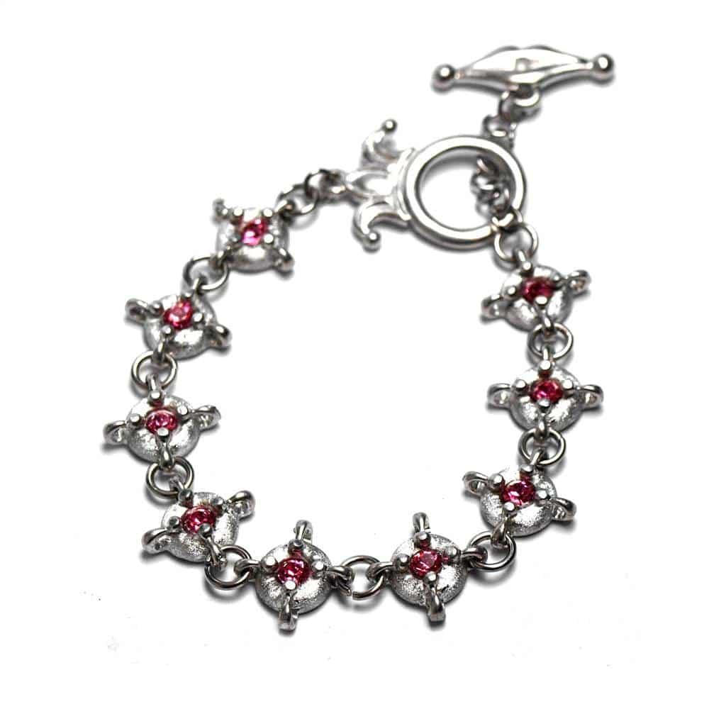 Bracelet fin style médiéval étain strass