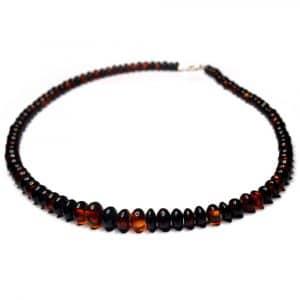 Collier ambres naturelles Mexique 50cm 98 perles lentilles 6.5 à 12mm nuances rouge_AMB_COL_005_001