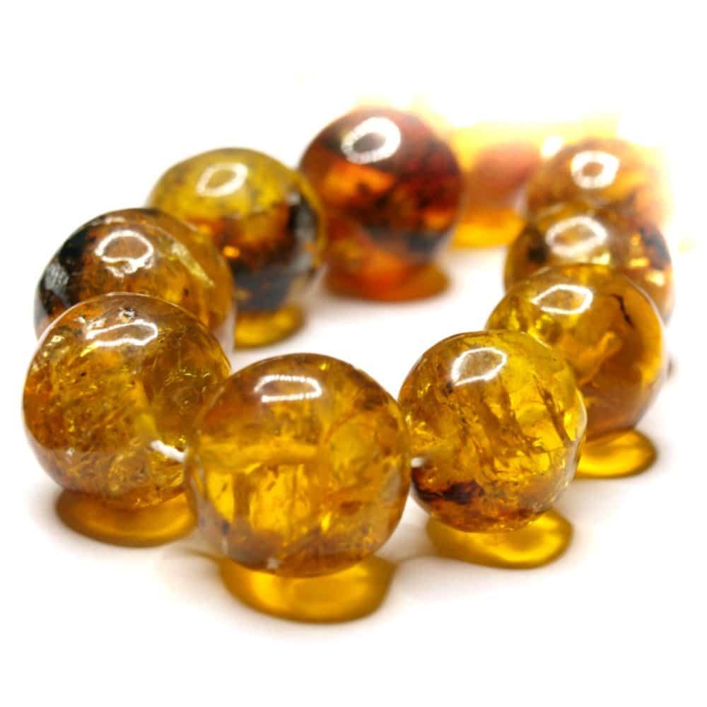 Collier ambres naturelles Mexique 60cm 41 perles rondes 12 à 19mm nuances jaune_AMB_CL_004_00212 à 19mm nuances jaune_AMB_CL_004_002