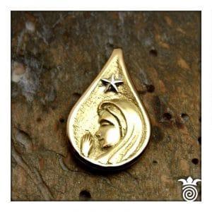 Médaille baptème vierge or jaune 750