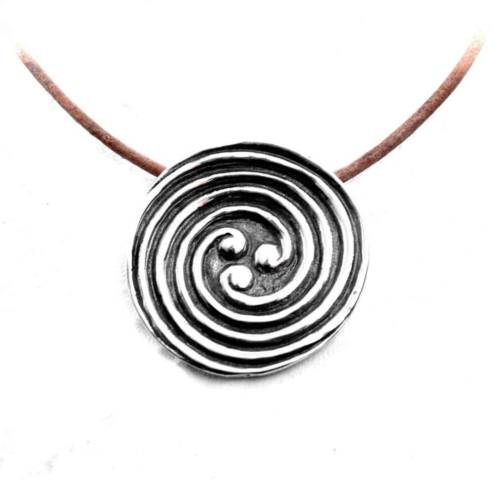Pendentif celte argent triple spirale