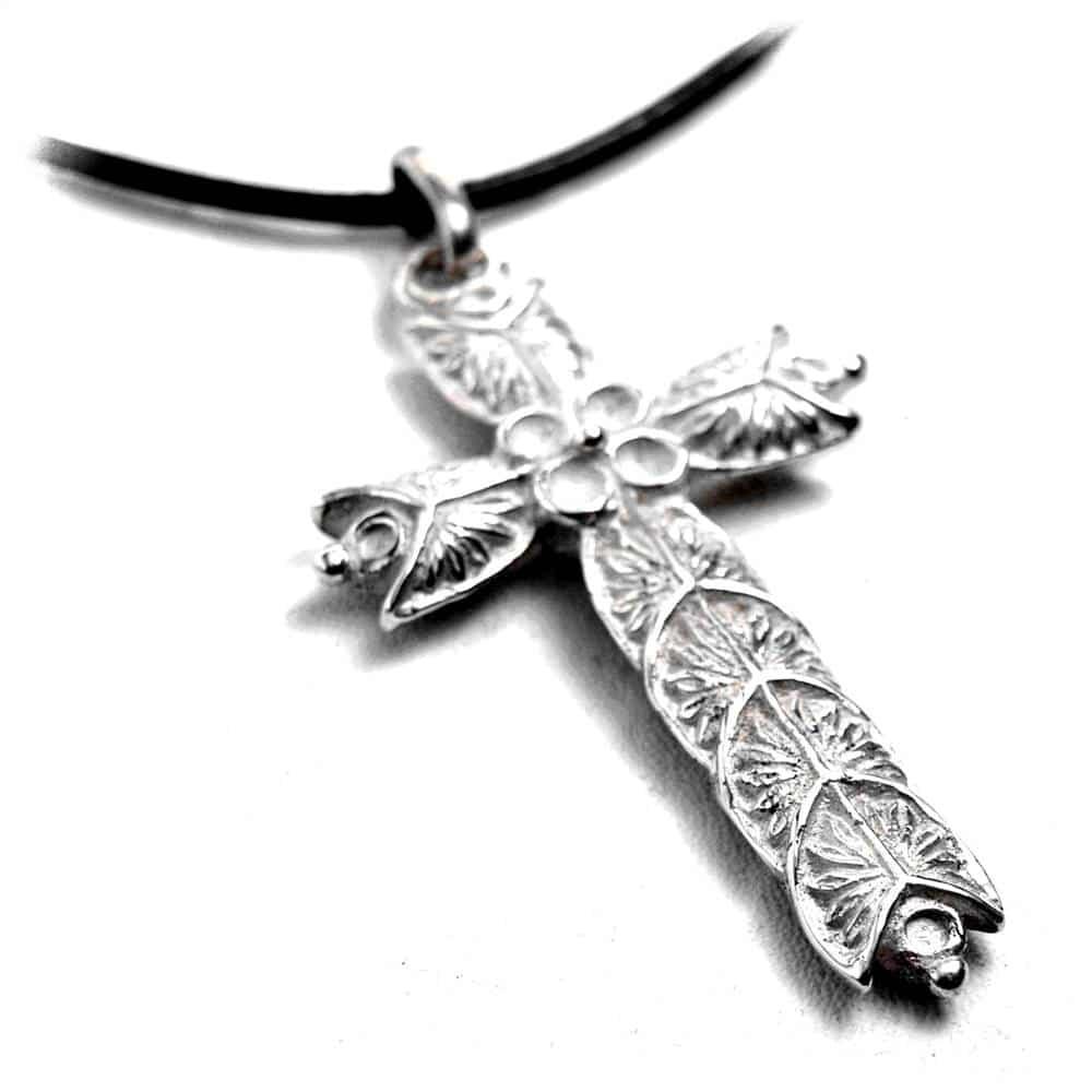 Pendentif croix celte viking argent