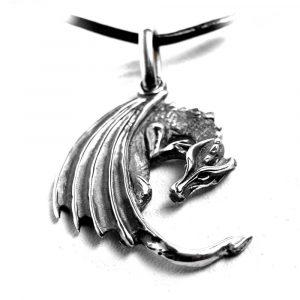 Pendentif dragon smaug argent