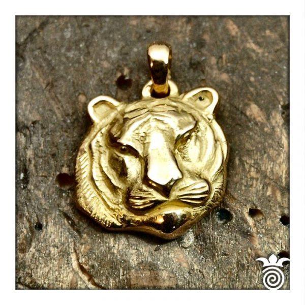 Pendentif tigre or jaune 750