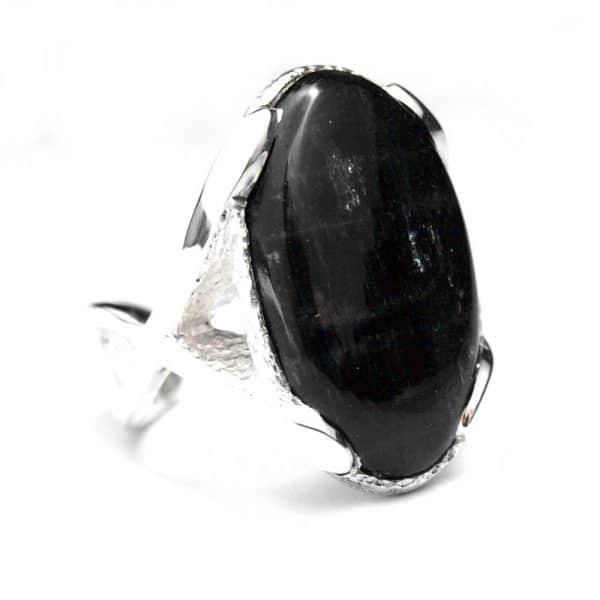 Pièce unique bague argent pierre naturelle